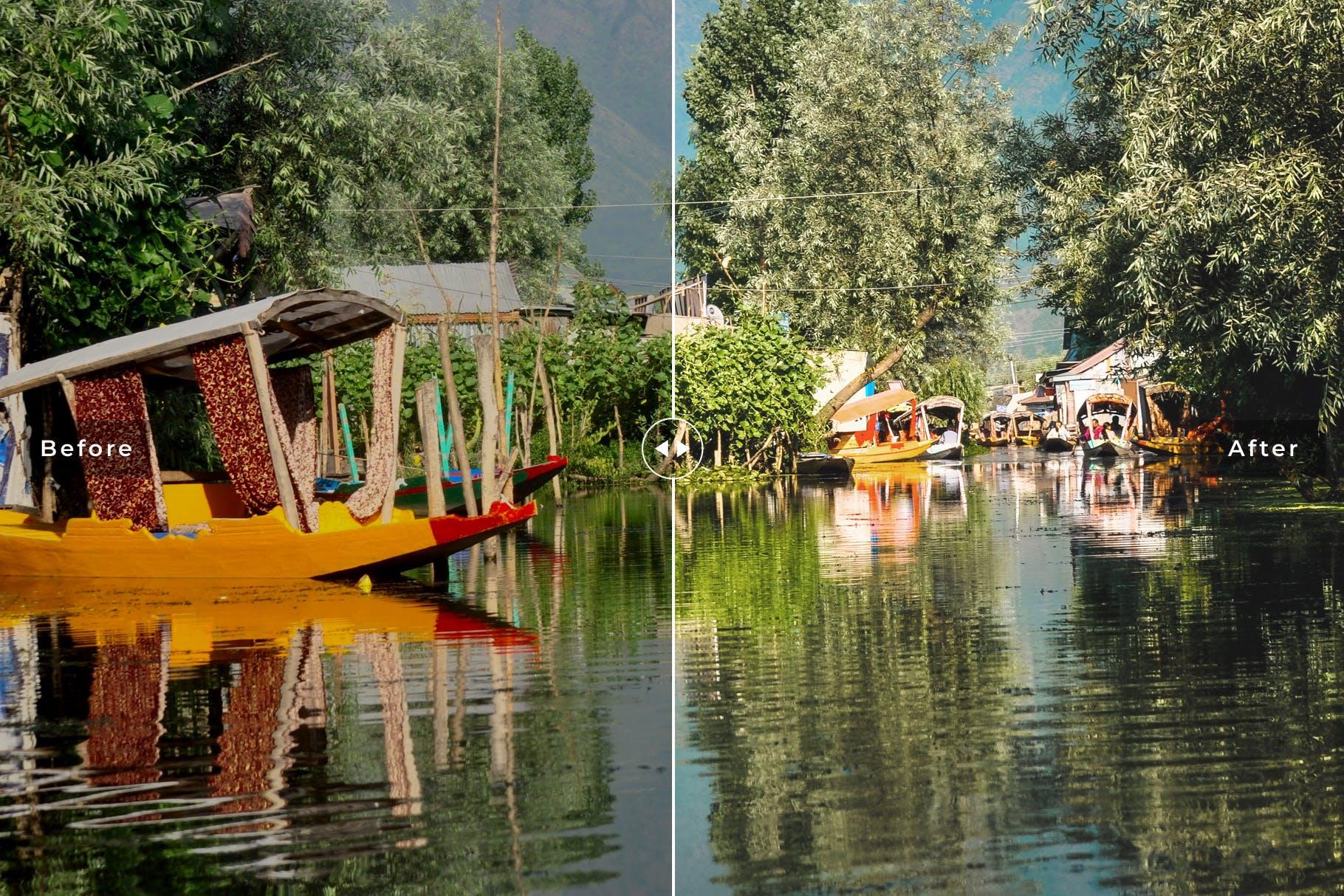 户外摄影后期色彩增强LR调色预设 Srinagar Mobile & Desktop Lightroom Presets设计素材模板