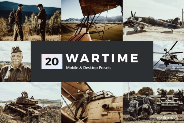 战争照片主题LR调色预设 20 Wartime Lightroom Presets and LUTs