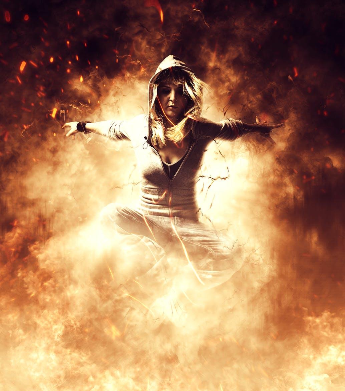 电影特效火焰照片处理Photoshop动作 Phoenix CS4+ Photoshop Action设计素材模板