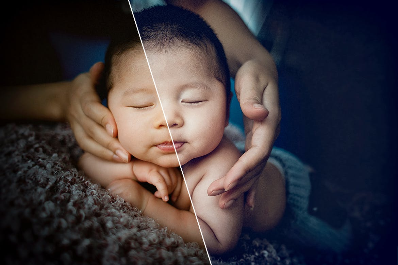 婴儿照片LR调色预设 50 Newborn Lightroom 设计素材模板