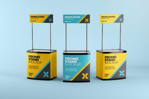 促销台&促销桌广告设计效果图样机 Promo stand mockup
