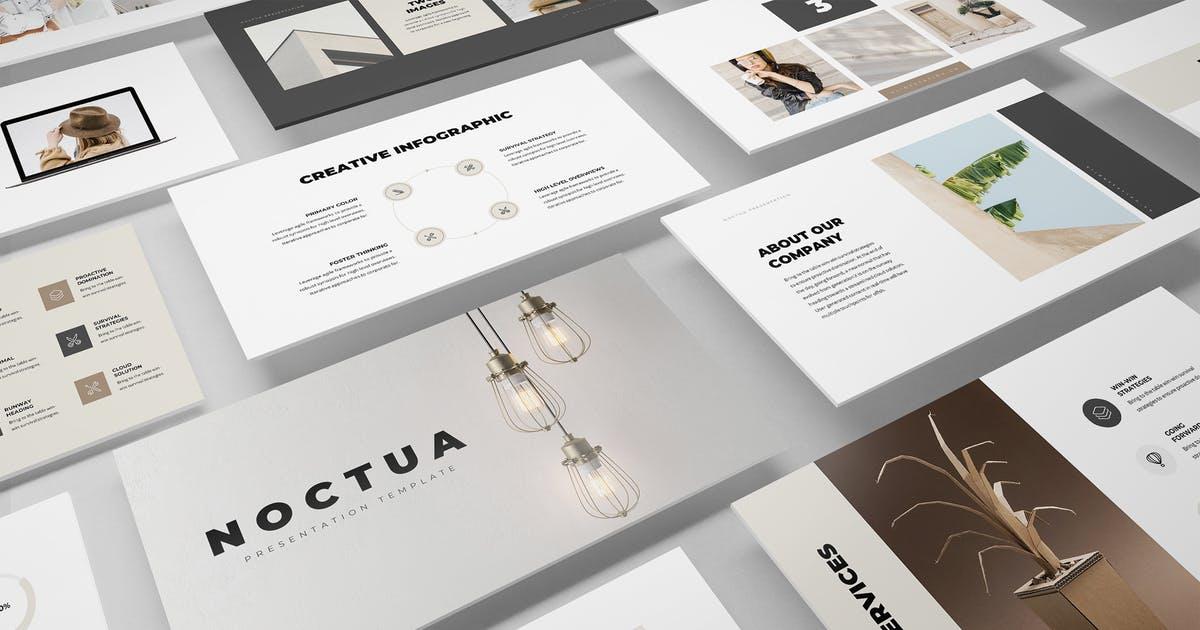 提案演示PowerPoint幻灯片模板 Noctua Minimal PowerPoint Presentation Template设计素材模板