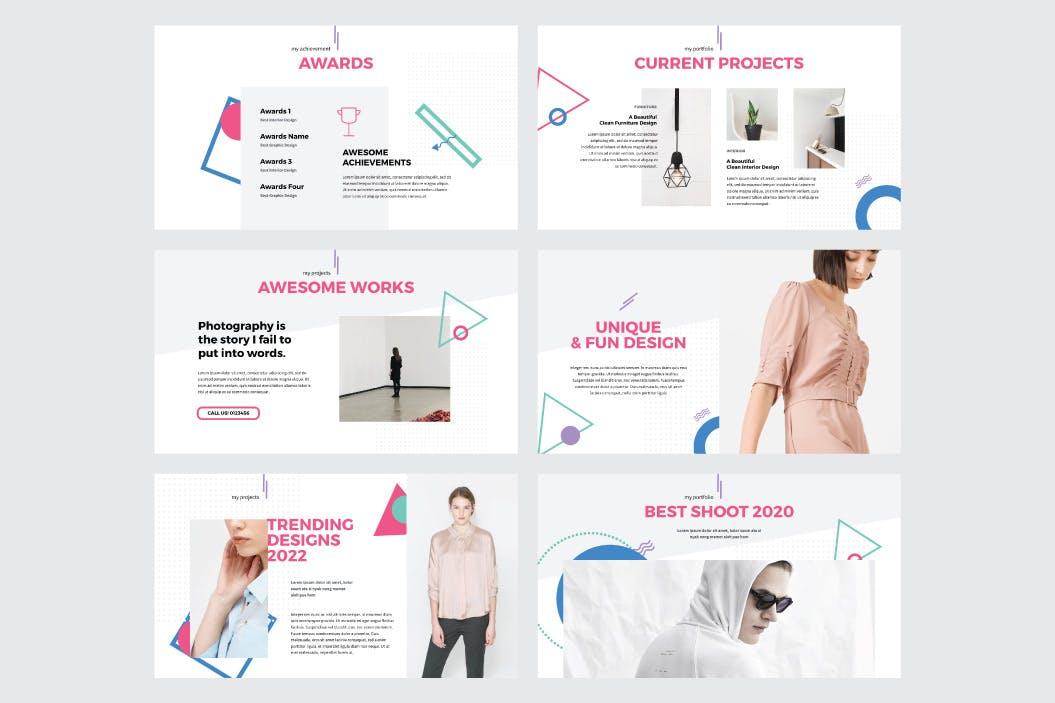 多用途排版设计Powerpoint模板合集 PERSONAL – Multipurpose Powerpoint V204设计素材模板