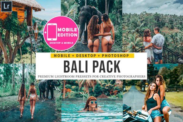 森林主题巴厘岛摄影Lightroom预设 Bali Lightroom Presets Mobile & Desktop