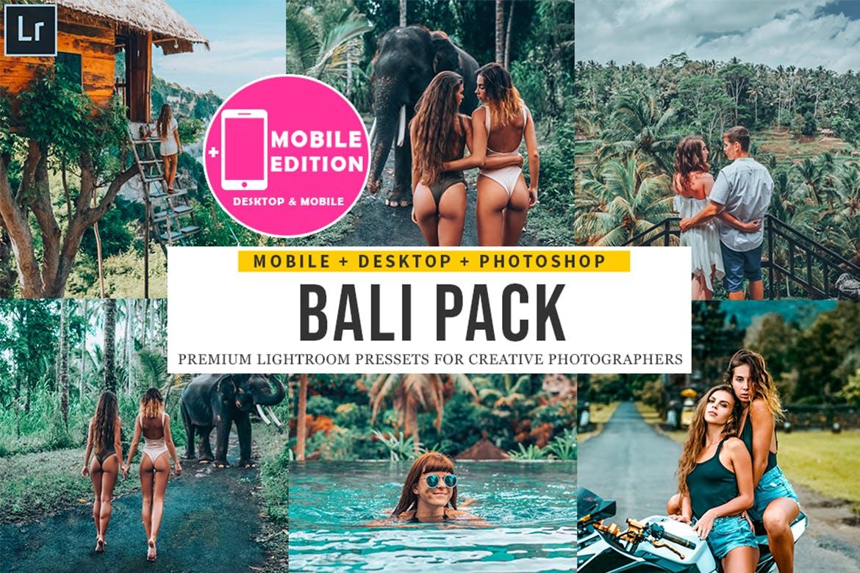 森林主题巴厘岛摄影Lightroom预设 Bali Lightroom Presets Mobile & Desktop设计素材模板