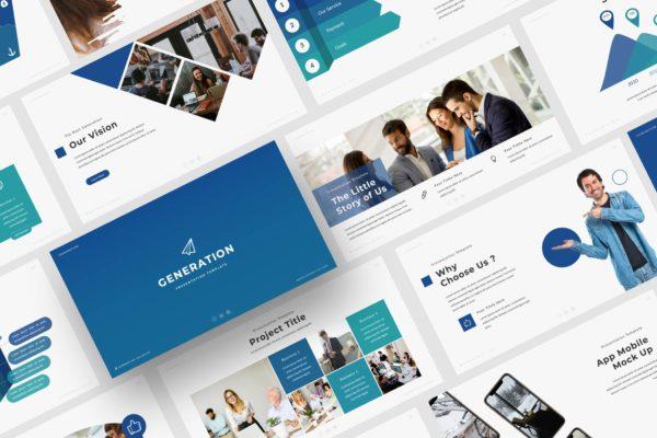 项目方案/企业宣传推广Powerpoint模板素材 Generation – Powerpoint Template
