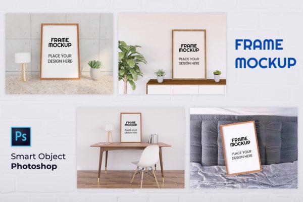 海报展示艺术作品实木画框样机合集 Nuzie – Frame Mockup Collection