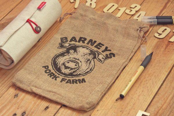 麻袋艺术素描图案预览样机模板v2 Sack Bag Sketch