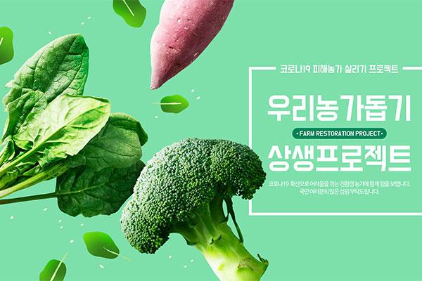 蔬菜绿色农产品宣传海报设计模板