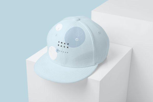 时尚的棒球帽设计图案效果图样机模板 Stylish Snapback Mockups