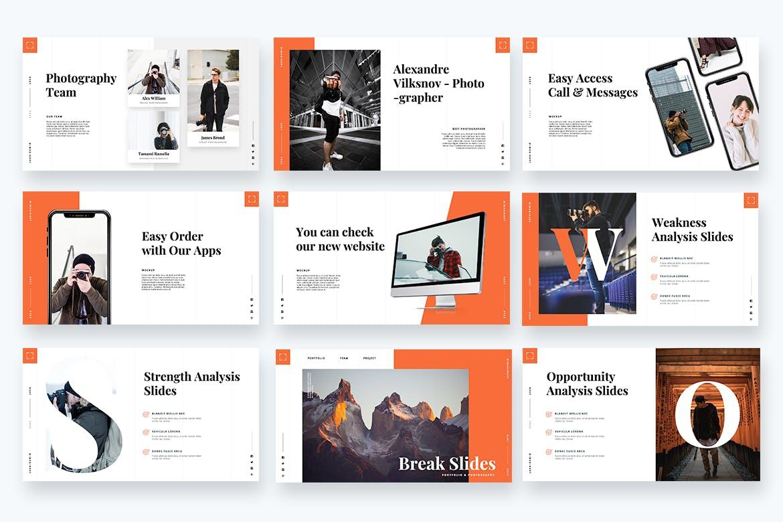 摄影工作室作品PPT幻灯片模板 Imaginary – Portfolio Powerpoint Template设计素材模板