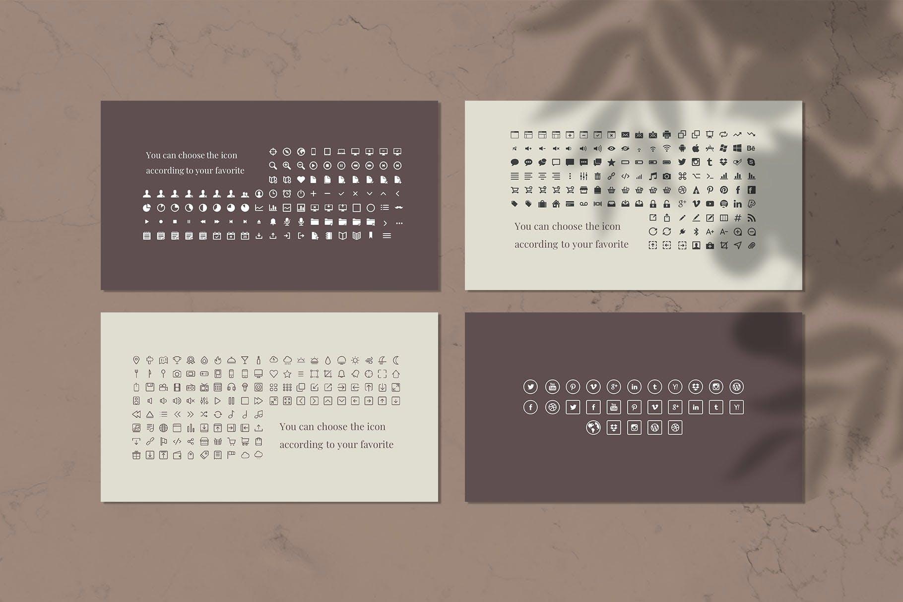 朦胧感时尚个人演讲PowerPoint模板 Stylish – Power Point Template设计素材模板