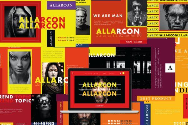 人士创意演讲Powerpoint模板合集 Allarcon – Powerpoint Template