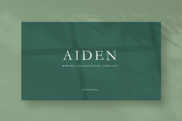 北欧INS简约冷淡风Powerpoint演示模板 Aiden – Powerpoint Template