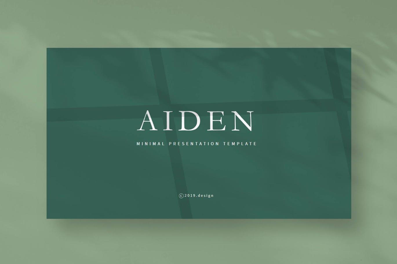 北欧INS简约冷淡风Powerpoint演示模板 Aiden – Powerpoint Template设计素材模板