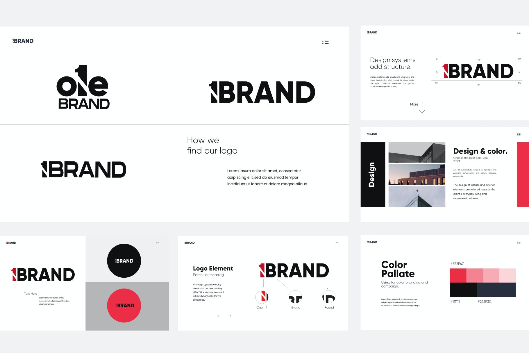 简约现代白色背景设计PPT商务演讲模板 One Brand – Powerpoint Template设计素材模板