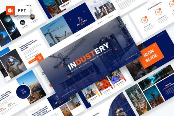 技术指导建筑工程Powerpoint模板 Industery – Factory Industrial Powerpoint Template