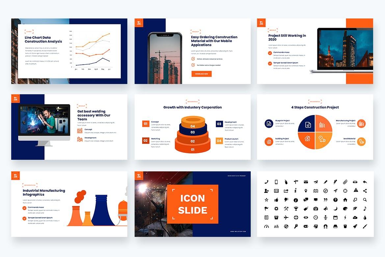 技术指导建筑工程Powerpoint模板 Industery – Factory Industrial Powerpoint Template设计素材模板