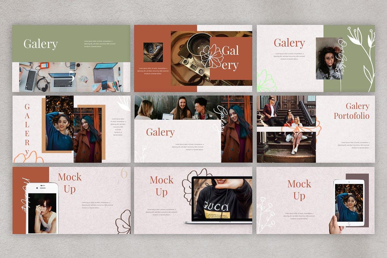 摄影工作室宣传业务Powerpoint模板下载 Miranda – Powerpoint Template设计素材模板