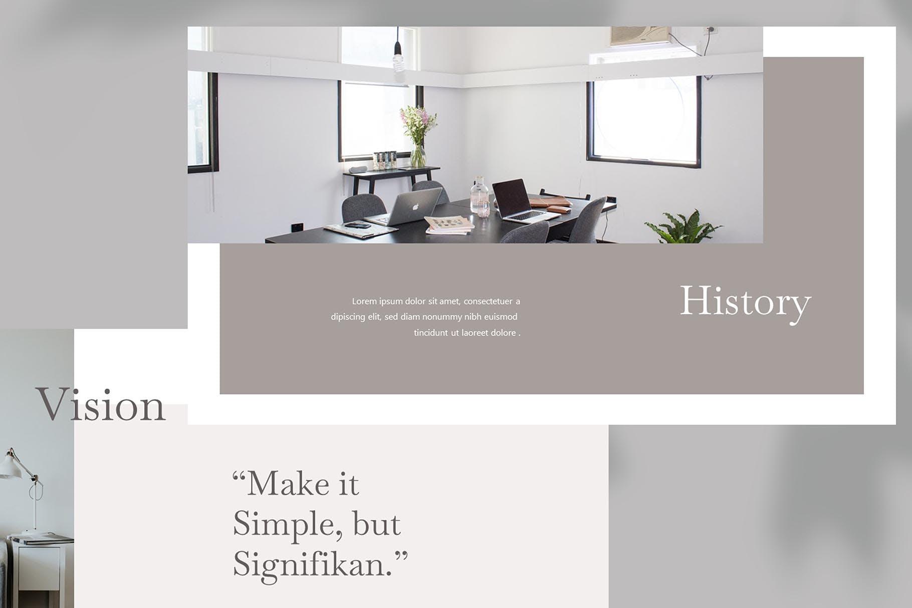 欧美风简洁时尚品牌产品展示PPT模板 Sharon – Powerpoint Template设计素材模板