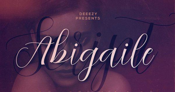 手写样式细线英文脚本字体 Abigaile Script Font