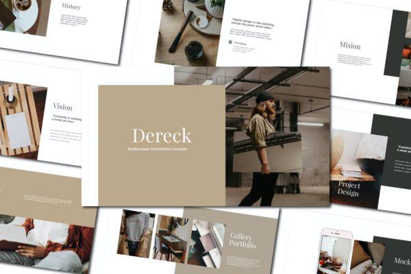 简约现代创意Powerpoint模板下载 Dereck – Powerpoint Template