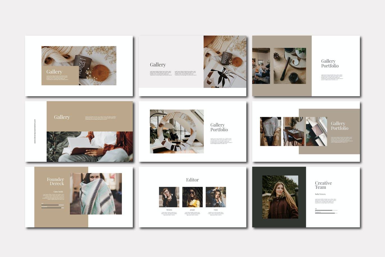 简约现代创意Powerpoint模板下载 Dereck – Powerpoint Template设计素材模板