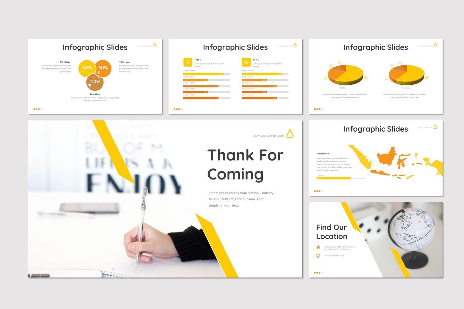 极简商务风格部门年度总结PPT幻灯片模板 Antix – Business Powerpoint Template设计素材模板