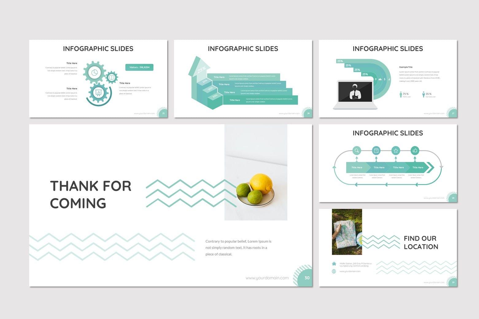 科普类教育水果主题PowerPoint课件模板 Basta – Fruit Powerpoint Template设计素材模板