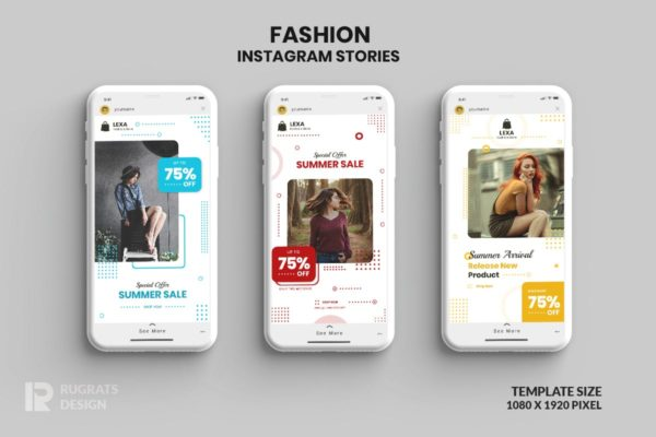 Instagram故事时尚时装促销社交贴图素材 Fashion Instagram Stories r2 Template