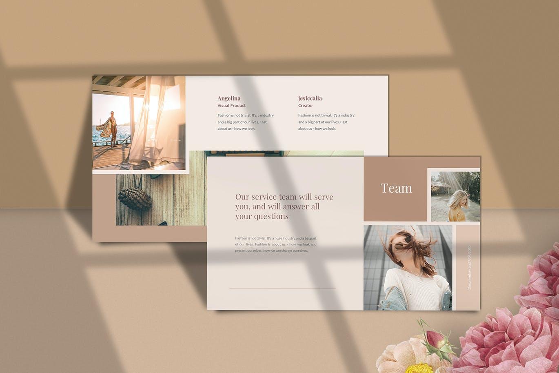 多用途PPT幻灯片浪漫少女系列模板 New Stylis – Power Point Template设计素材模板