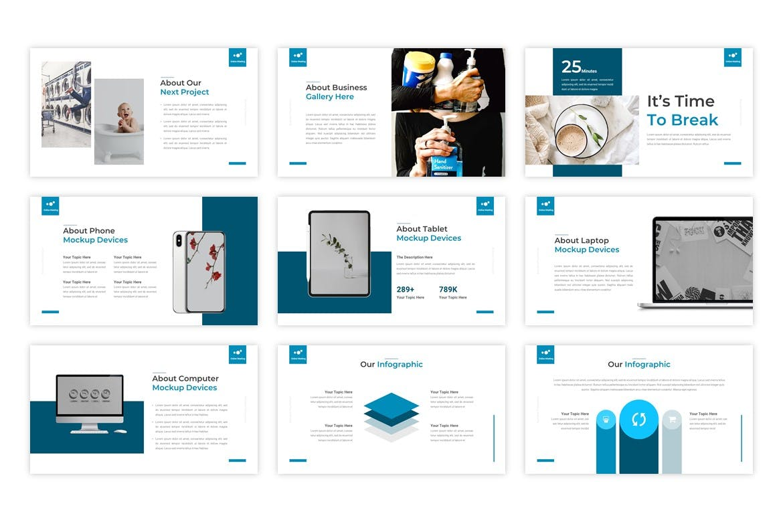 商业在线会议演示PowerPoint模板 Online Meeting – Business PowerPoint Template设计素材模板