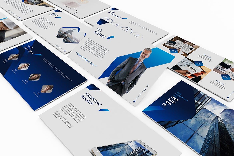 公司简介PPT/蓝色主题企业介绍演示幻灯片模板 Companic – Corporate Powerpoint Template设计素材模板