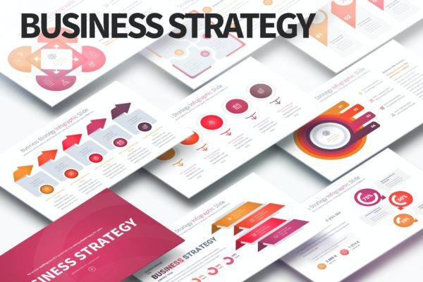 信息图表商业策略PPT幻灯片模板 Business Strategy – PowerPoint Infographics Slides