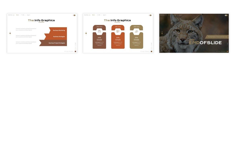介绍野生动物种类PPT幻灯片模板素材 Wildernest Presentation Template设计素材模板
