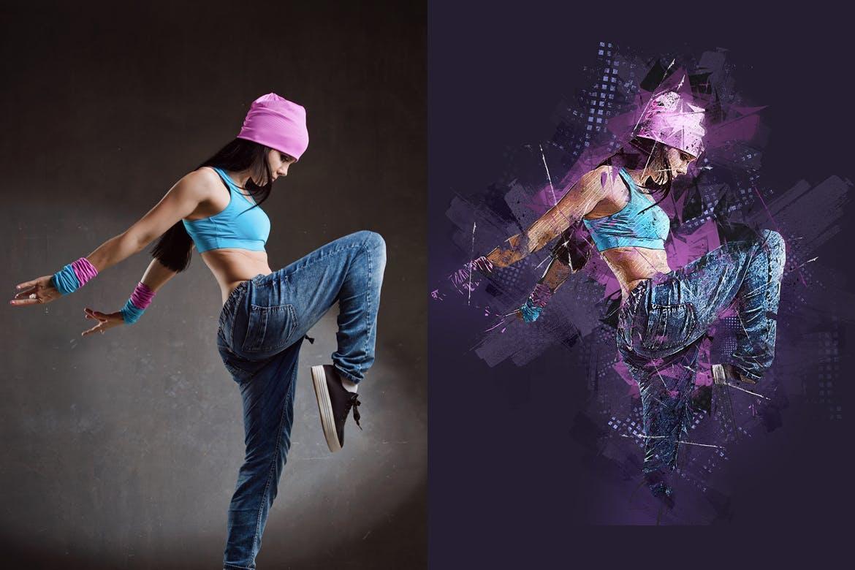 照片处理酷炫效果Photoshop动作 Street Drawing Photoshop Action设计素材模板