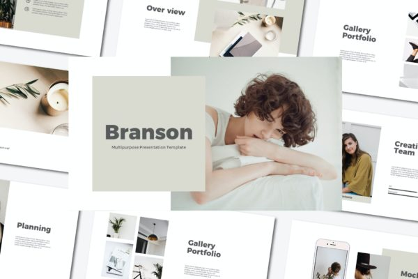 多用途的时尚现代PowerPoint演示文稿模板 Branson – Powerpoint Template