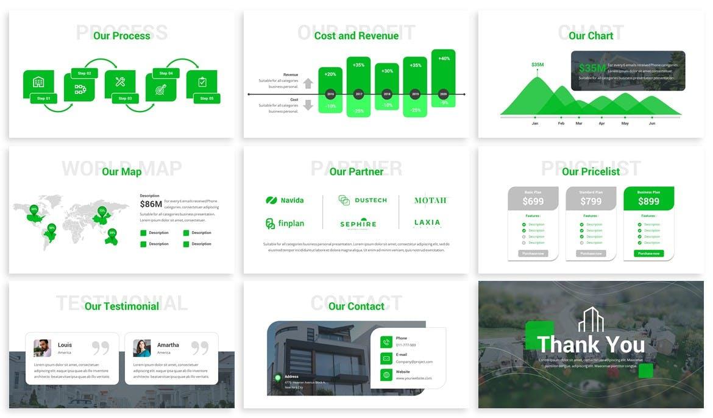 房地产公司精致工作总结汇报PPT模板 La Casa – Real Estate Google Slides Template设计素材模板
