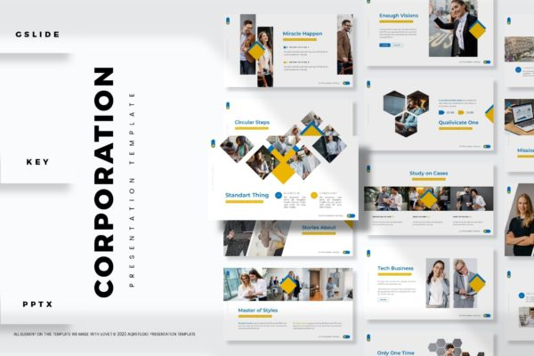 模板合集多功能演示PowerPoint Corporation – Presentation Template