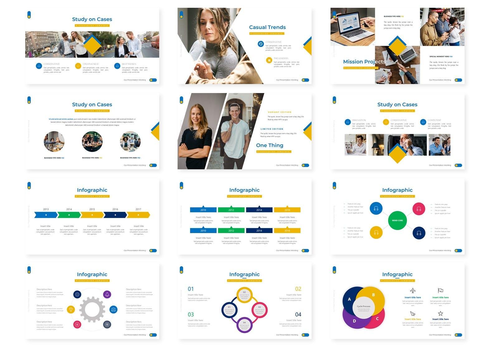 模板合集多功能演示PowerPoint Corporation – Presentation Template设计素材模板