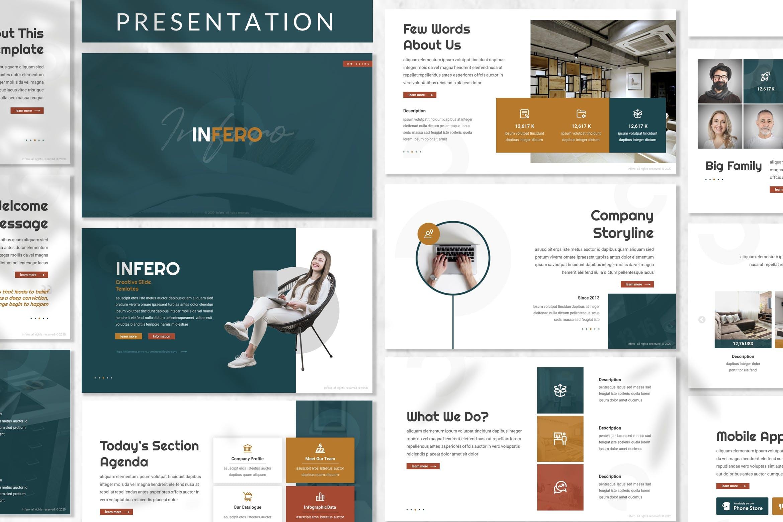 部门业务展示PPT幻灯片模板 Inferno – Business Prensentation Template设计素材模板