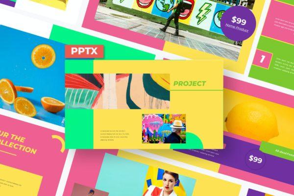 街头时尚涂鸦风个性自我介绍PPT模板 Daniza – Powerpoint Template