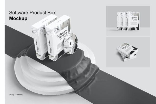 电脑软件产品设计盒子样机模板v2 Software product Box – Mockup Vol. 2
