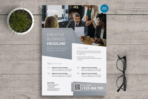宣传单&矢量模板v12 Corporate Business Flyer PSD and Vector Vol.12