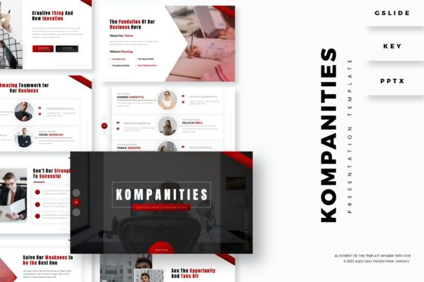 商业多功能演示PowerPoint模板 Kompanities – Presentation Template