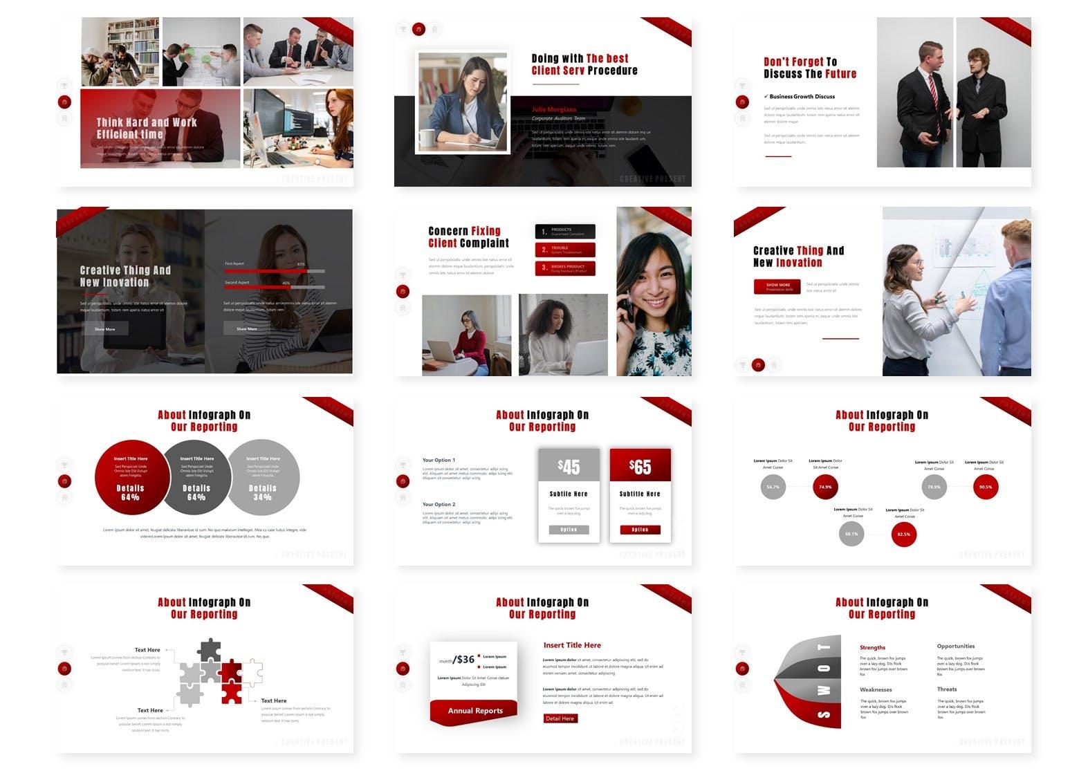 商业多功能演示PowerPoint模板 Kompanities – Presentation Template设计素材模板