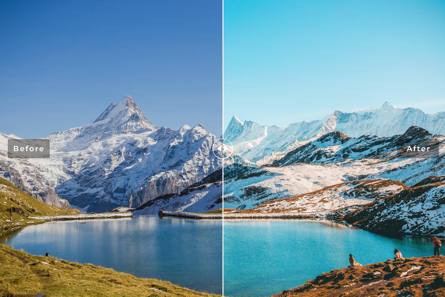LR调色预设低对比度哑光照片效果 Grindelwald Mobile & Desktop Lightroom Presets设计素材模板