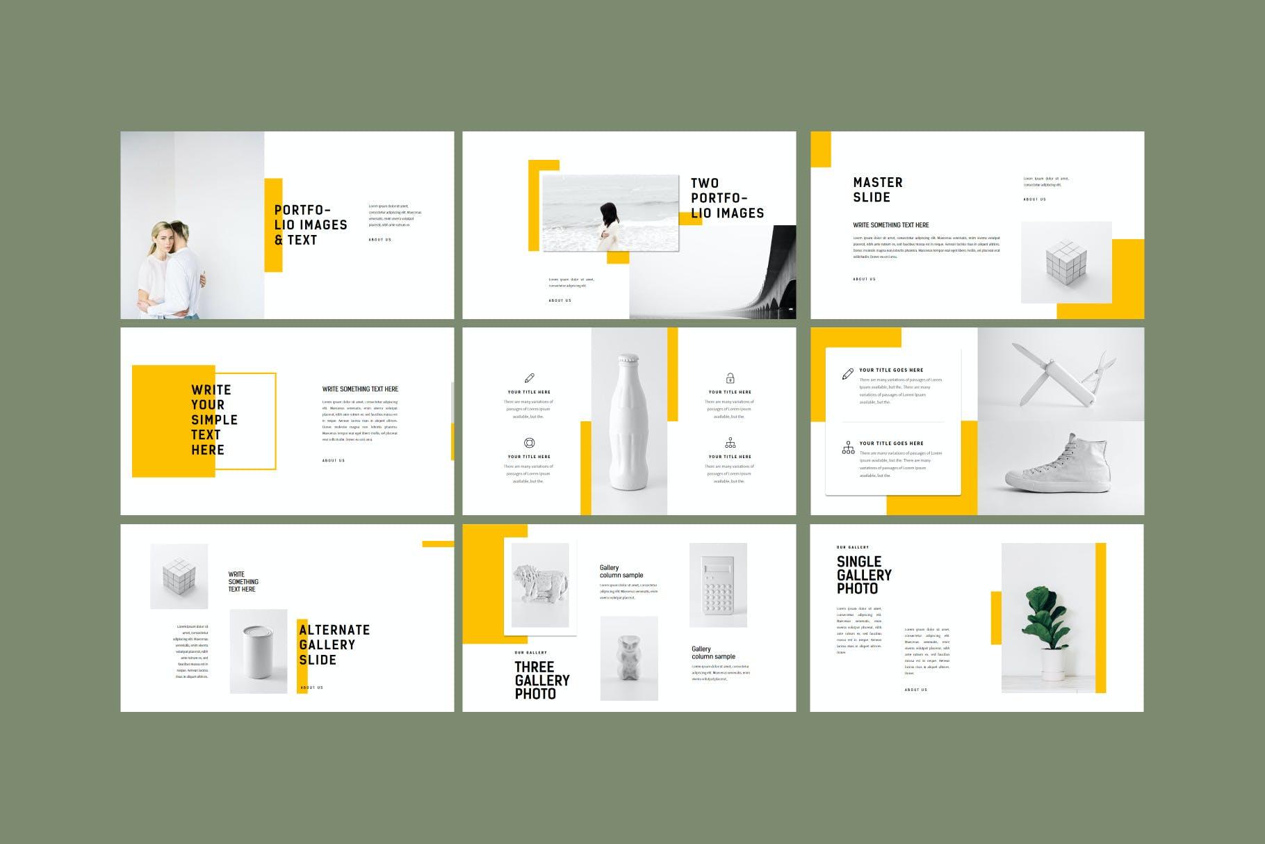 产品展示极简主义风格Powerpoint模板 Minimal – Powerpoint Template设计素材模板