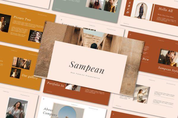 品牌指南新品服装Powerpoint模板 Sampean – Powerpoint template