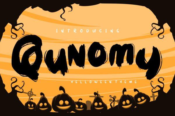 节日主题万圣节设计英文无衬线字体 Qunomy | Helloween Font Theme